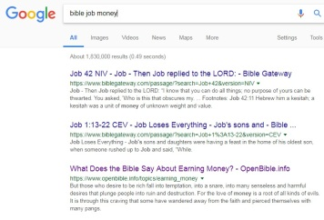 Bible, money, book of Job, story of Job, wealth, possessions, riches