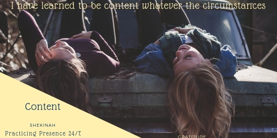 I have learned to be content whatever the circumstances, contentment, happy, satisfied, thoughts, thinking