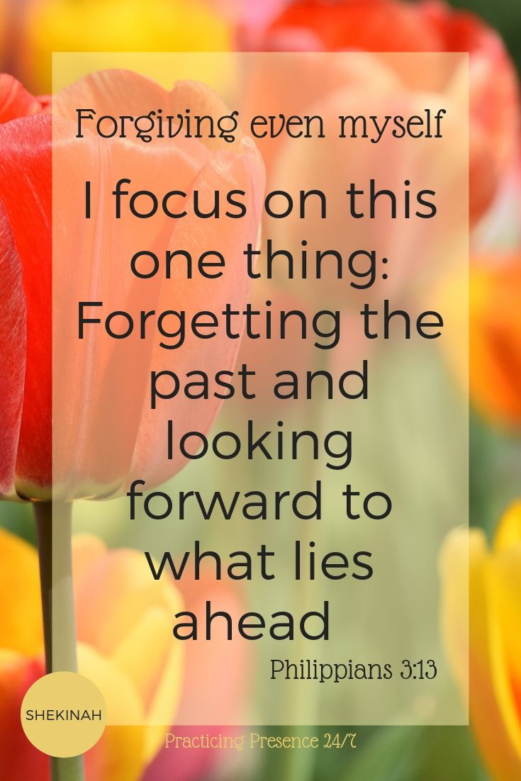I focus on this one thing: Forgetting the past and looking forward to what lies ahead Philippians 3:13