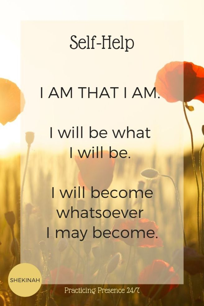I AM THAT I AM.   I will be what  I will be.   I will become whatsoever  I may become.