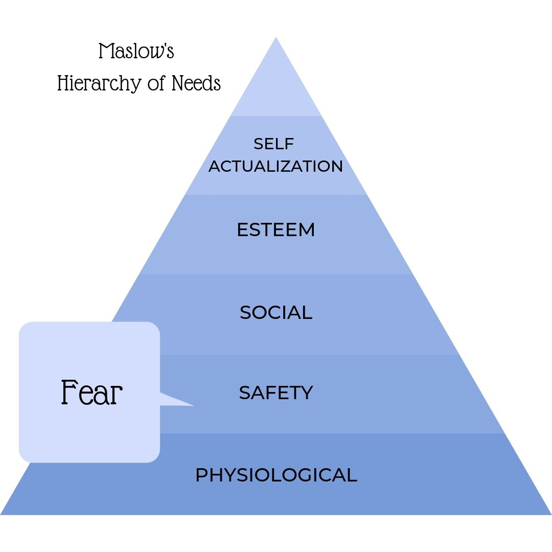 using fear as a motivator, safety, security, self-preservation, sense of worth, punishment, hell, damnation, brain-washing