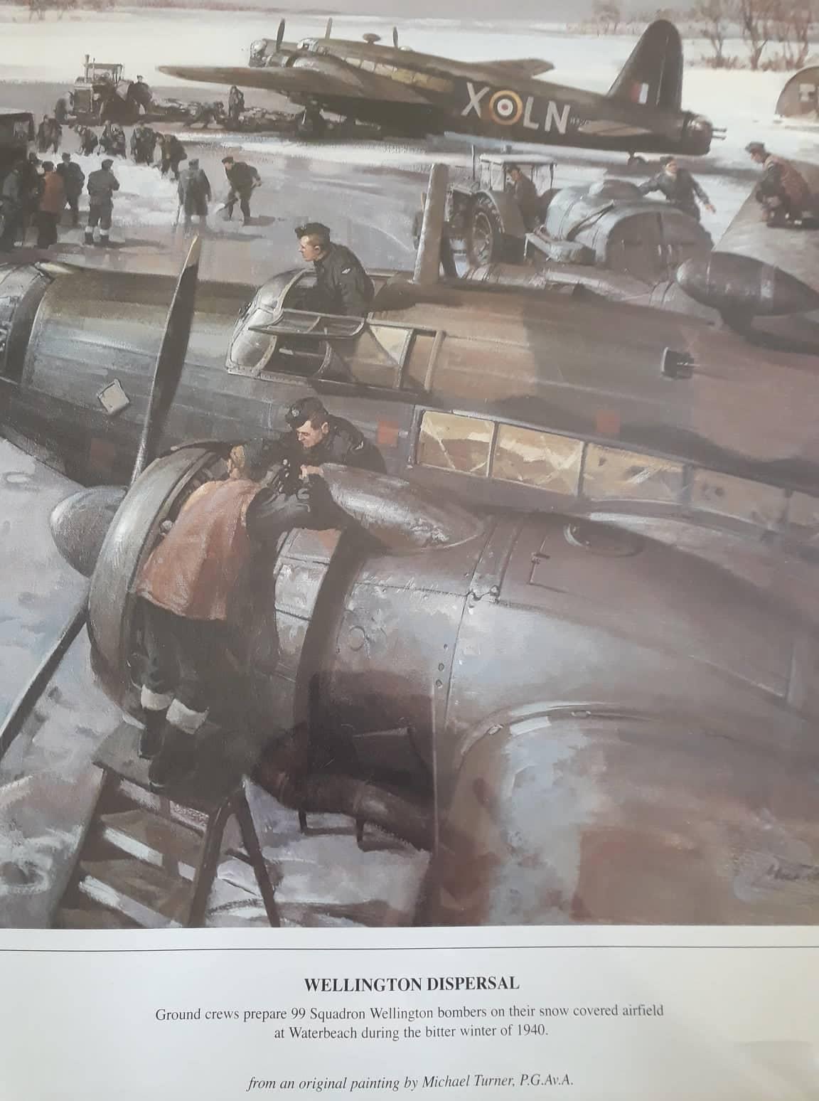 Wellington Bomber, rear gunner