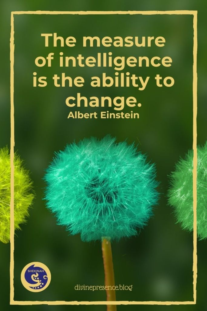 wisdom, change, intelligence, divine love, The measure of intelligence is the ability to change. Albert Einstein